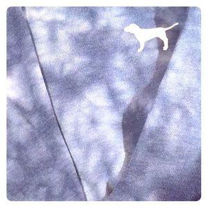 Xs Victoria secret pink blue/white long sleeve